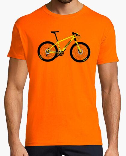 Camiseta efedefunko © Yellow Cannondale - Hombre, manga corta, naranja, calidad extra