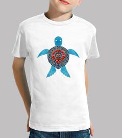el azul de la tortuga de mar tribal