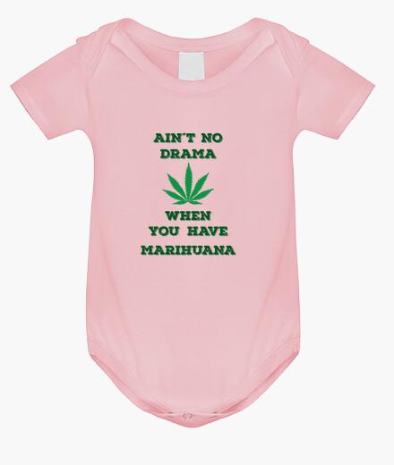 Ropa infantil El Bebe Marihuanero, Nunca hay drama si tienes marihuana calidad premium