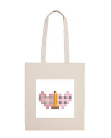 El Beso al cuadrado de Klimt bolsa