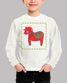 el caballo del dala rojo