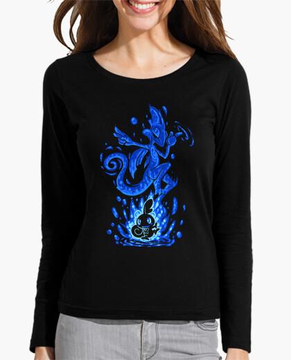 Camiseta el camaleón de agua dentro - manga larga de mujer