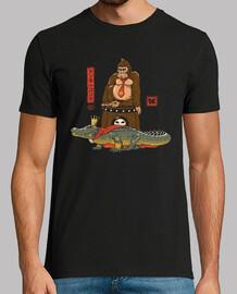 el cocodrilo y la camisa de gorila para hombre.