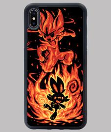 el conejito de fuego dentro - funda iphone