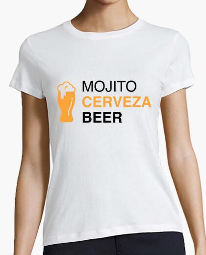 T-shirt el festival - mojito cerveza birra donna nera