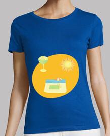 El final del verano: camiseta mujer