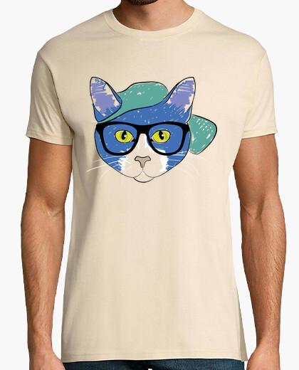 Camiseta El gato con gafas