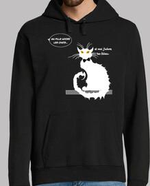 El gato y las chicas por camiseta negra