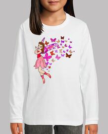 el hada mariposa rosa