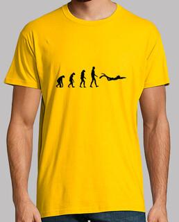 el hombre de buceo camisa, amarillo mostaza