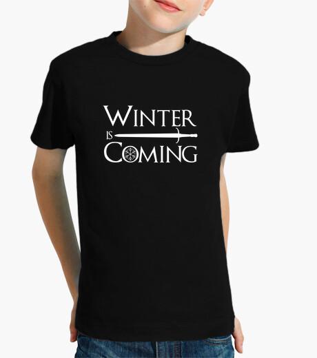 Ropa infantil el invierno viene jon nieve