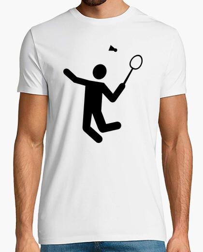Camiseta el jugador de bádminton
