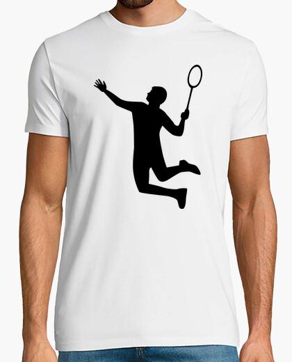 Camiseta el jugador de bádminton salto