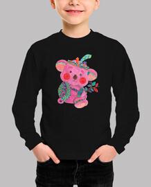 el koala de color rosa