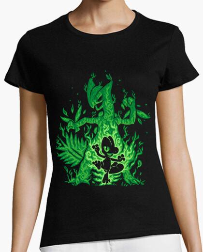 Camiseta el lagarto de hierba dentro