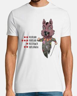 El lobo. Letras negras para camiseta clara
