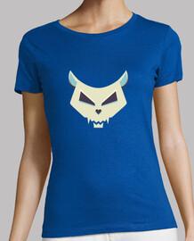 el mal de dibujos animados cráneo del gato camiseta