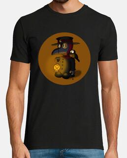 El médico de la peste y mascota