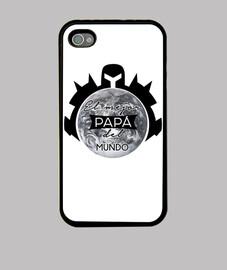 El mejor PAPA del mundo / Regalo para papa Funda iPhone 4, negra
