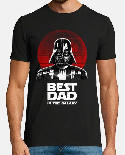 el mejor papá en la camiseta mens galaxy