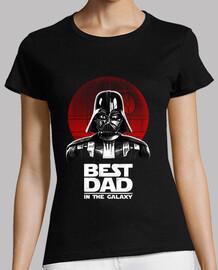 el mejor papá en las camisas para mujer de galaxias