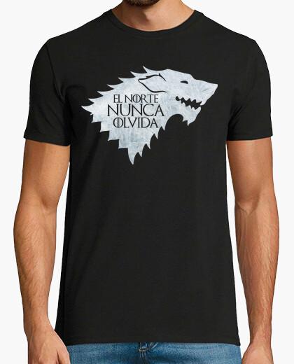 Camiseta El norte nunca olvida. John Nieve. Invernalia.