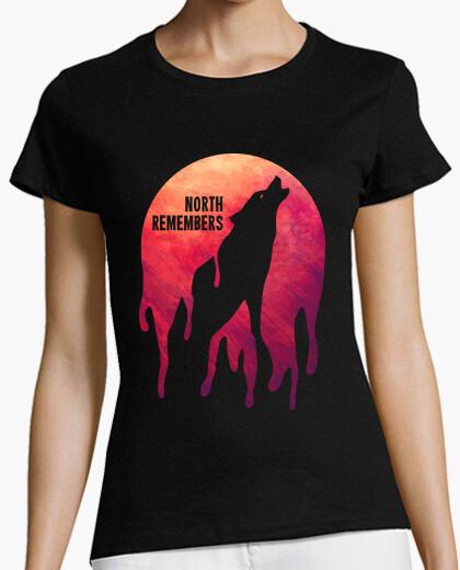 El Norte Recuerda Lobo Stark Camiseta