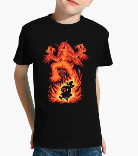 Ropa infantil el pájaro de fuego dentro - camisa de niños