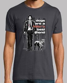 El perro es el mejor amigo de un asesin