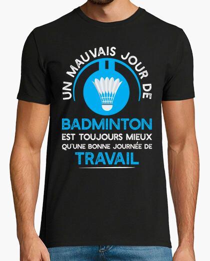 Camiseta el trabajo o el regalo de bádminton