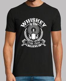 El whisky es el único espíritu en que creo Camisa divertida con alcohol.