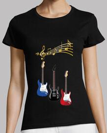 electric guitars musical scores