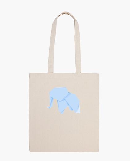 Elefante azul. Puedes aplicarlo sobre bolsa de tela color natural o negro