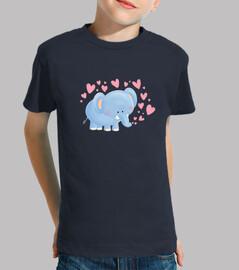elefante con corazones