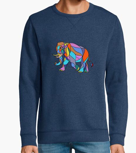 Jersey elefante enojado caminando mosaico