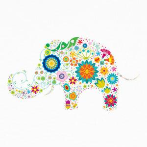 Camisetas Elefante Florado