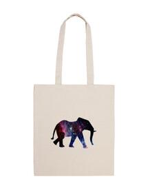 Elefante galaxia - bolsa de tela