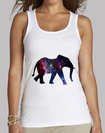Elefante galaxia - Camiseta sin mangas para mujer