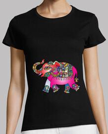 Elefante Mandala Rosado