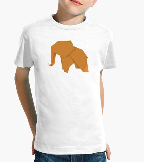 Ropa infantil Elefante naranja. Aplícalo sobre diferentes colores de camiseta de niño