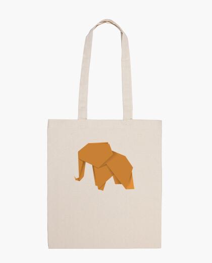 Elefante naranja. Puedes aplicarlo sobre bolsa de tela color natural o negro
