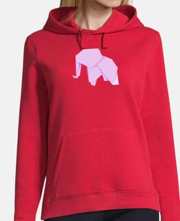 Elefante rosa. Aplícalo sobre diferentes colores de sudadera con y sin capucha.
