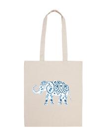 Elefantes - Elefante azul y blanco