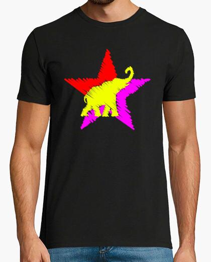 Tee-shirt elephant caresse république étoiles