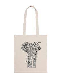 elephant chiaro sacchetto di sfondo