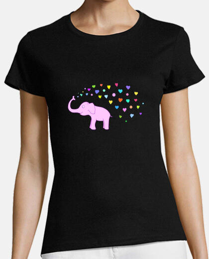Elephant with color hearts