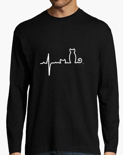 T-shirt elettrogatogramma bianco