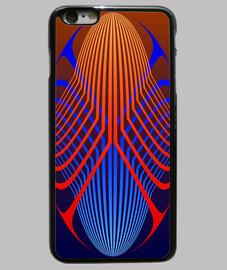 elipses de color rojo y azul - iphone