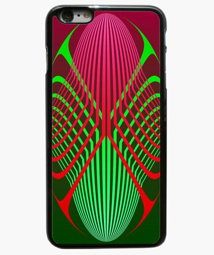 Funda iPhone 6 Plus / 6S Plus elipses rojas y verdes - iphone