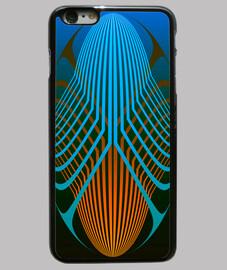 Ellipses bleue et orange - Iphone
